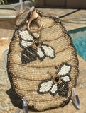 Mary Frances Hand Beaded Coin Purse - Oh Honey