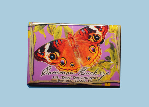 Wildlife Refrigerator Magnets - Common Buckeye Butterfly