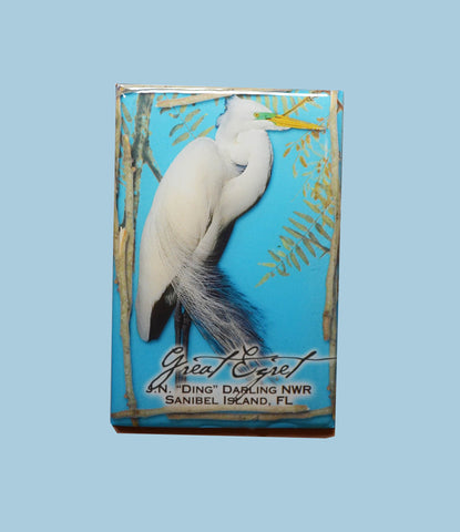 Wildlife Refrigerator Magnets - Great Egret