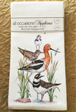 All-Occasion Cotton Napkins - Stacked Shorebirds - Set of 4