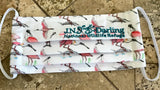 New Special Edition Iconic Roseate Spoonbill Face Mask - Teal Embroidery