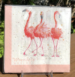 Whimsical Wildlife Paper Napkins - Pretty in Pink - Two Sizes