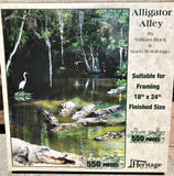 Alligator Alley - 550 Piece Puzzle - Made in the USA