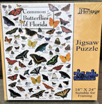 Common Butterflies of Florida - 550 Piece Puzzle - Made in the USA