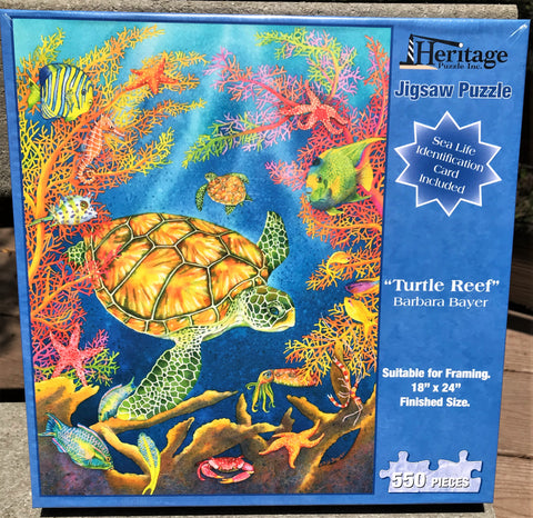 Turtle Reef - 550 Piece Puzzle - Made in the USA