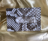 Invasive Python Skin Money Clip Card Case