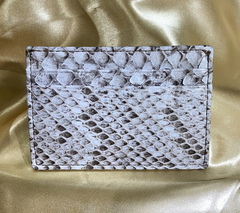 Invasive Python Skin Money Clip Card Case - Lighter Tint