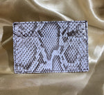 Invasive Python Skin Slim Card Case - Lighter Tint