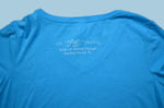 Aqua Sea Turtle Ladies V-Neck T-Shirt