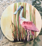 Absorbent Stone Trivet - Roseate Spoonbill