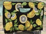 Zesty Hand-beaded Lemons Handle Bag by Mary Frances