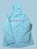 Aqua Blue Goose Logo Ladies Rain Jacket