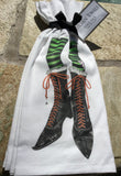 Kitchen Towels - Set of Two - Bewitching Black Boots