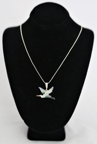 Artistic Heron Necklace By Julia Pinkham