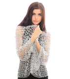 Eco-Friendly Recycled Pop-Top Silver Classic Jacket - Debra