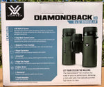 Vortex Diamondback HD 8 x 32 Binoculars - Special Offer: Free Stokes Birding Guide