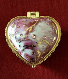 Hand-Painted Porcelain Heart-Shaped Keepsake Boxes By Nationally Acclaimed Artist Patty Sprankle