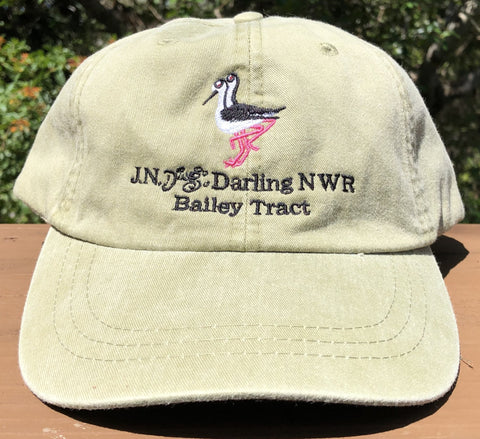 Khaki Black-Necked Stilt Adjustable Baseball Hat