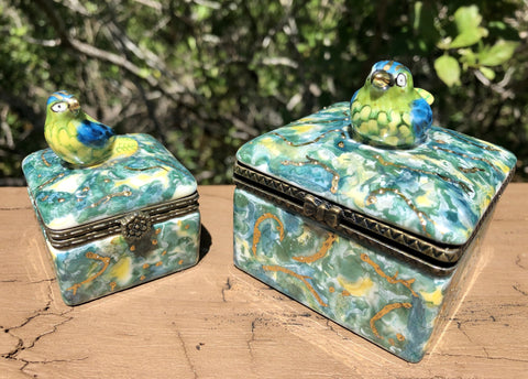 Hand-Painted Porcelain Songbird Keepsake Boxes By Nationally Acclaimed Artist Patty Sprankle