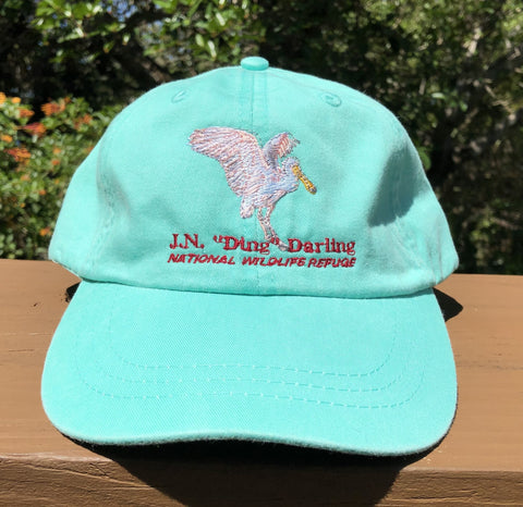 Seafoam Spoonbill Adjustable Baseball Hat