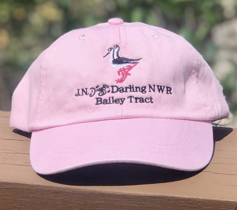 Pink Black-Necked Stilt Adjustable Baseball Hat
