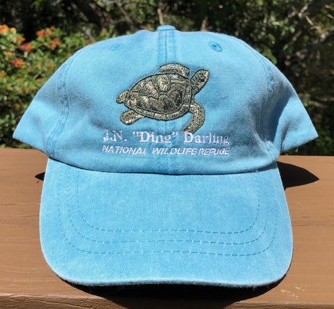 Blue Turtle Adjustable Baseball Hat