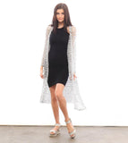 Eco-Friendly Recycled Pop-Top Silver Duster Jacket - Kimono