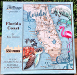 Florida Coast - 550 Piece Puzzle - Made in the USA