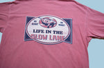 Life in the Slow Lane Manatee T-Shirt - Red