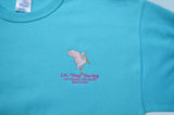 Spoonbill Embroidered Pullover Sweatshirt - Scuba Blue