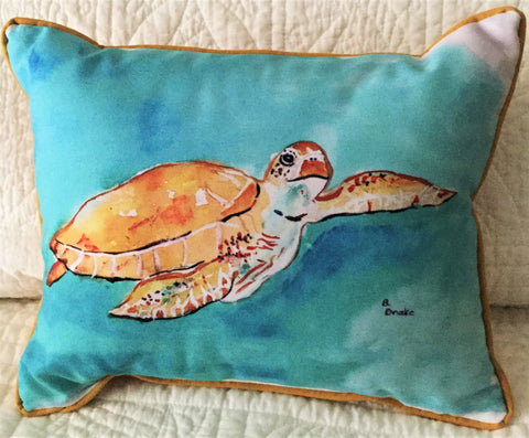 Small Indoor/Outdoor Pillow - Sea Turtle - Made in the USA