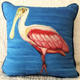 Small Indoor/Outdoor Pillow - Roseate Spoonbill - Made in the USA
