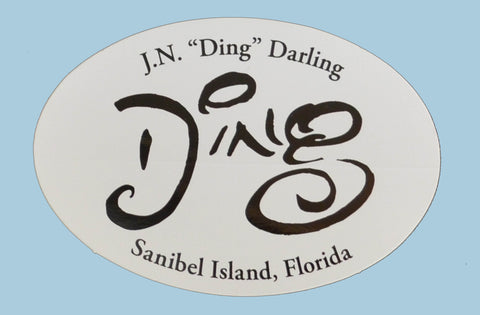 """DING"" Oval Stickers"