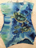Sea Turtle Ladies SharkBite Tee - UPF 30 Sunshirt - Made in the USA