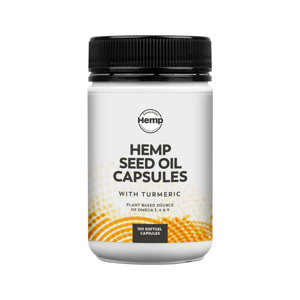 Hemp Seed Oil Capsules with Turmeric