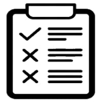 Clipboard Checklist square icon for filtering.