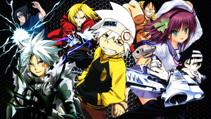 Anime characters from various Animes such as Soul Eater, One Piece, Fullmetal Alchemist, Haikyu and Hunter X Hunter.