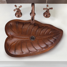 "Load image into Gallery viewer, Teopantlan 26-1/2"" x 15"" Bathroom Copper Sink"