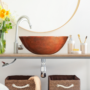 "Altamira 17""x14"" Copper Bathroom Sink"