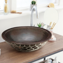 "Load image into Gallery viewer, Manzanillo 16"" Copper Bathroom Sink"