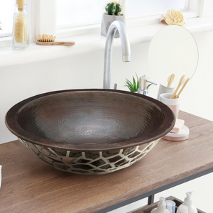 "Manzanillo 16"" Copper Bathroom Sink"
