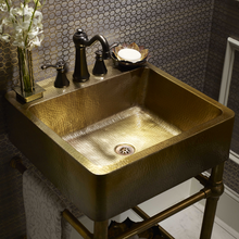 "Load image into Gallery viewer, Zacatecas 20"" x 20"" Vanity Sink Antique Satin Gold"