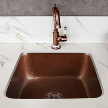 "Load image into Gallery viewer, Tamayo 15-5/8"" x15-5/8"" Copper Bar Sink"