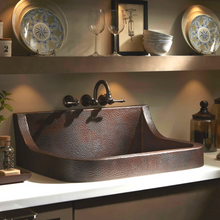 "Load image into Gallery viewer, Diaz Large 30"" x 22"" Copper Sink"