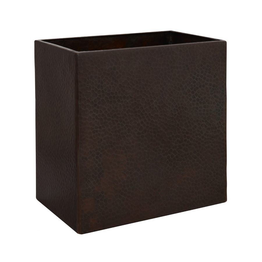 Black Copper Wastebasket