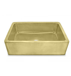 "Quiroga 33"" x 22"" Hammered Brass Sink"