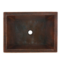 "Load image into Gallery viewer, Tonala 19"" x 14"" Bathroom Copper Sink"