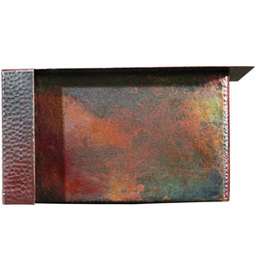 "Fleur-de-Lis 17"" x 15"" Aged Copper Kitchen Sink"