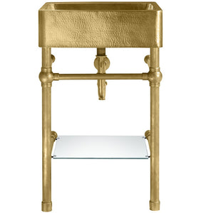 "Zacatecas 20"" x 20"" Vanity Sink Antique Satin Gold"