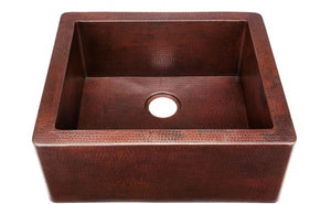"Cardenas 25"" x 22"" Copper Sink"